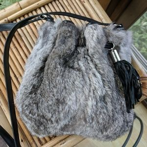 Michael Kors rabbit fur crossbody bag !